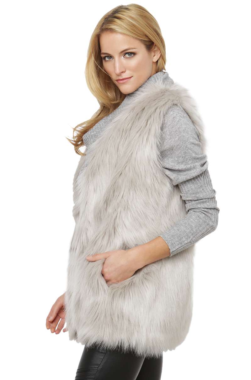 Shop gray fur vest at Neiman Marcus, where you will find free shipping on the latest in fashion from top designers.