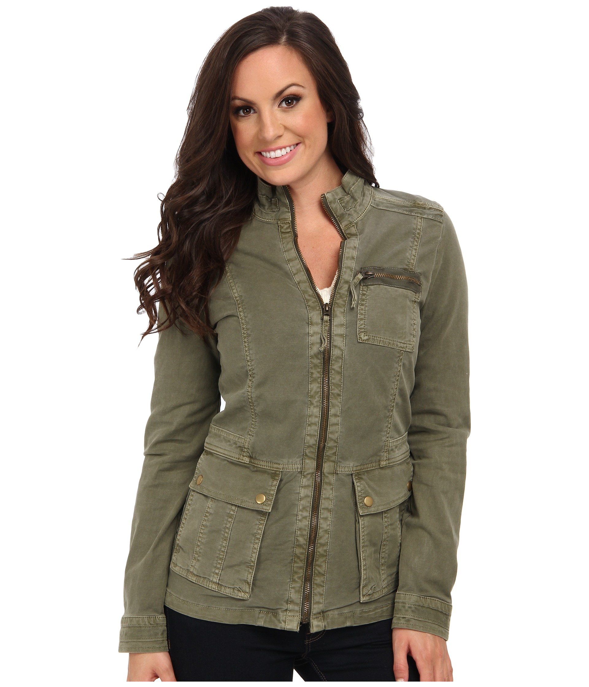Lyst Lucky Brand Caleigh Military Jacket In Green