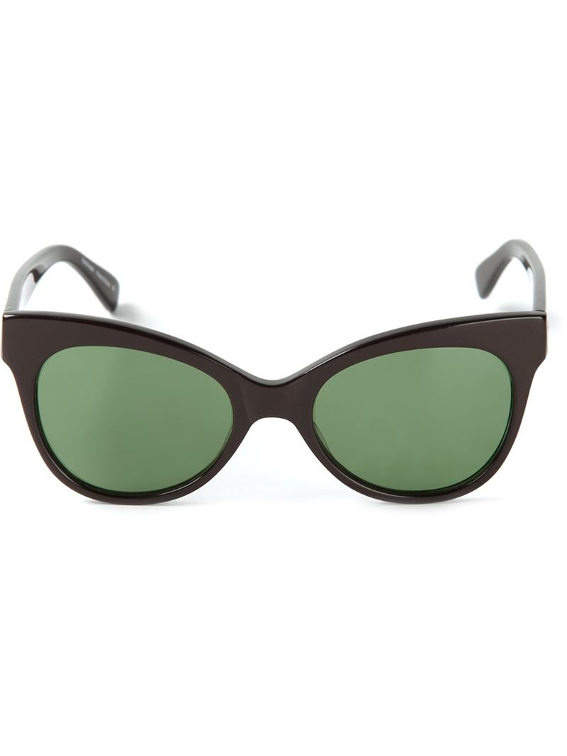 Norma Kamali Square Cat Eye Sunglasses in Black