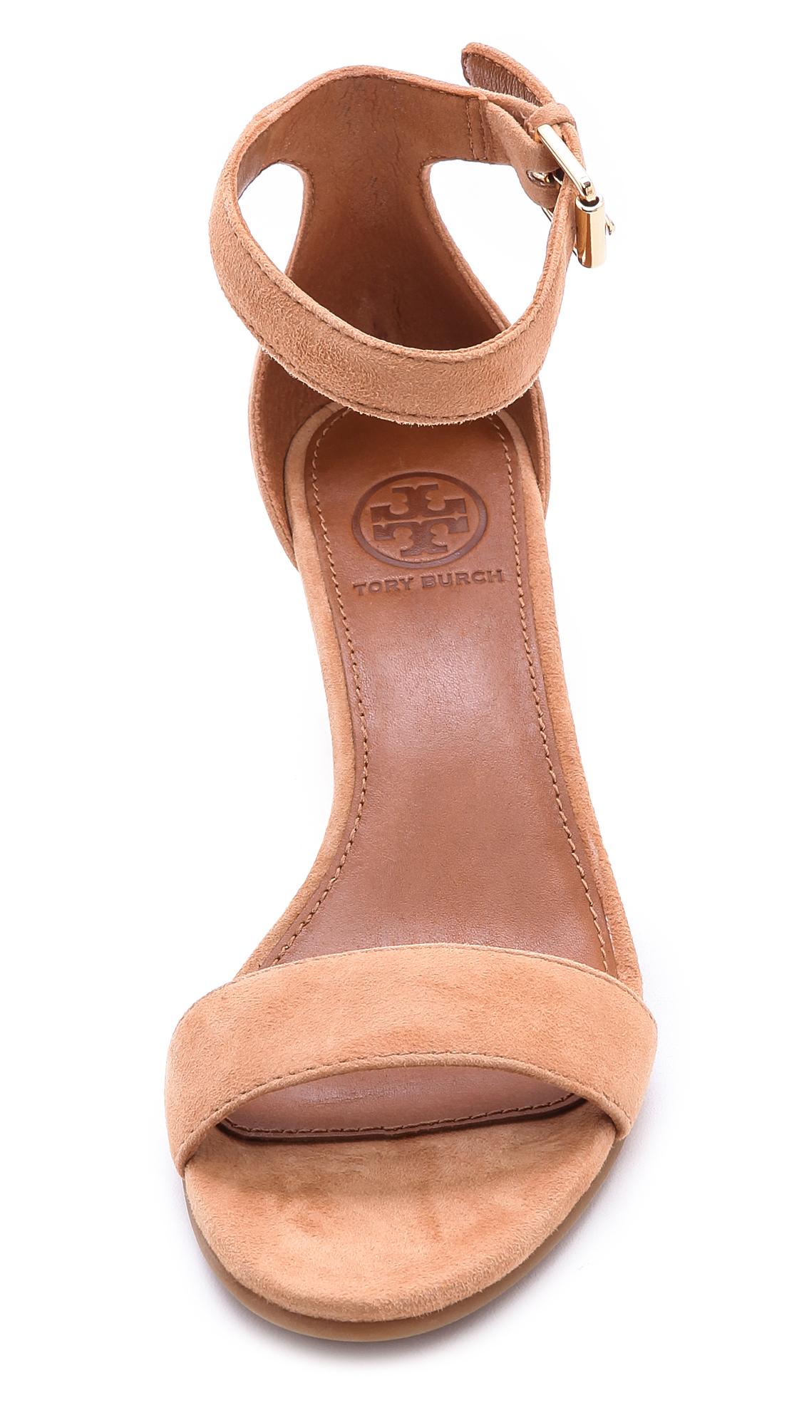 Tory Burch Savannah Wedge Sandals Carnival In Natural Lyst