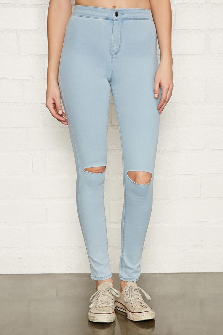 Forever 21 light blue skinny jeans - Forever 21 Light Blue Skinny Jeans – Your New Jeans Photo Blog