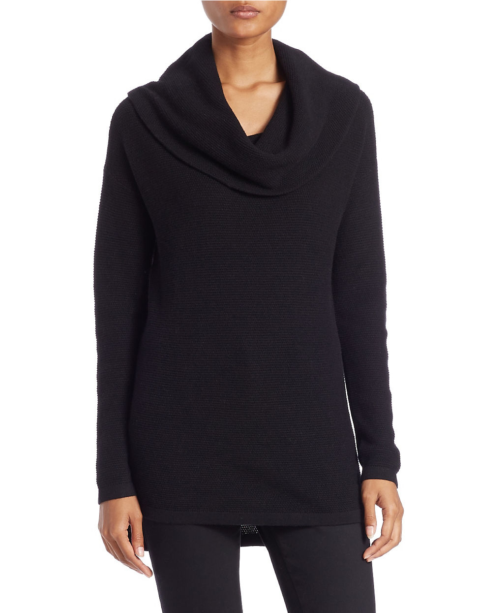 Lord Taylor Plus Drop Shoulder Cowl Neck Sweater In