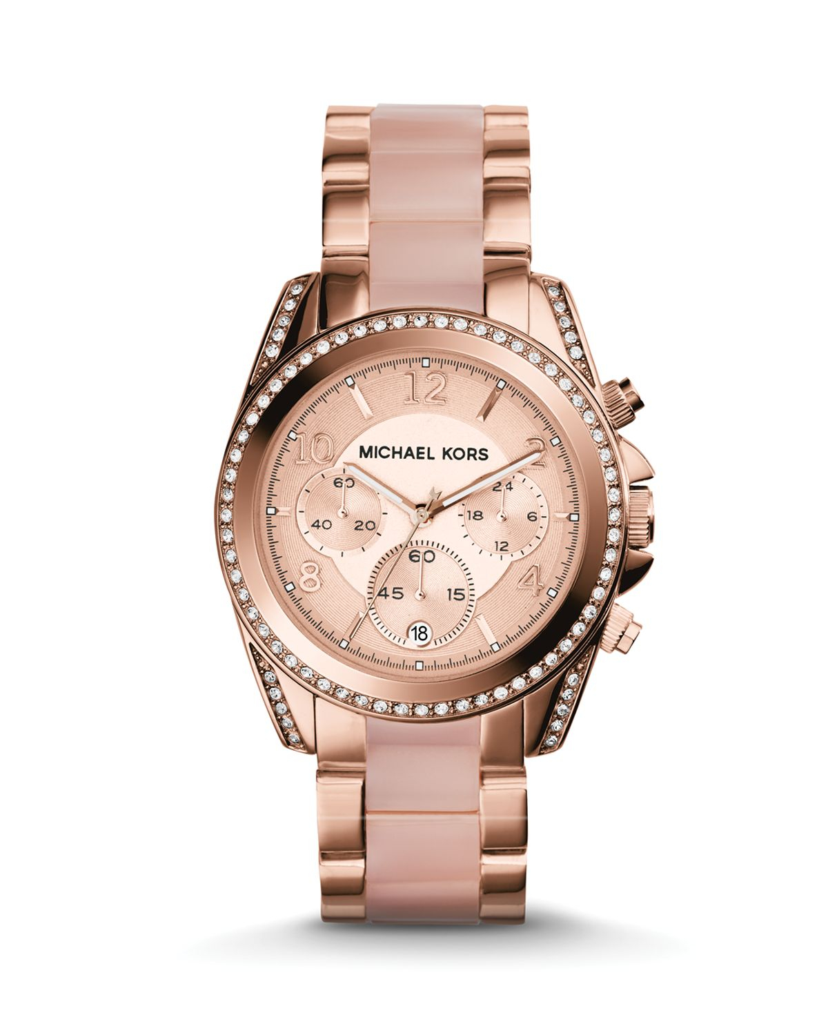 michael kors rose gold tone blair watch 39mm in pink. Black Bedroom Furniture Sets. Home Design Ideas