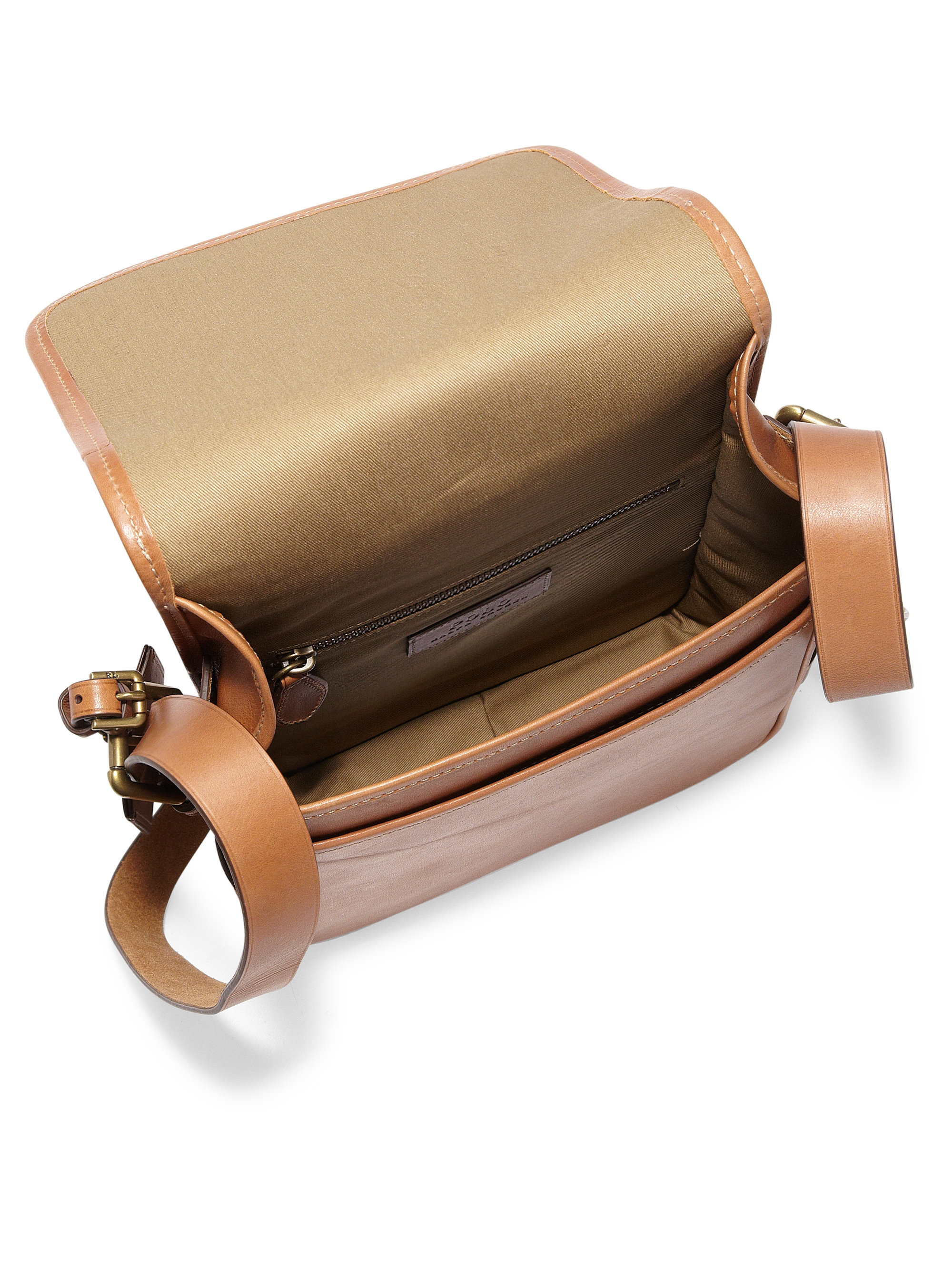 118dbfab1179 ... closeout lyst polo ralph lauren compact leather messenger bag in brown  for men 03871 f8620