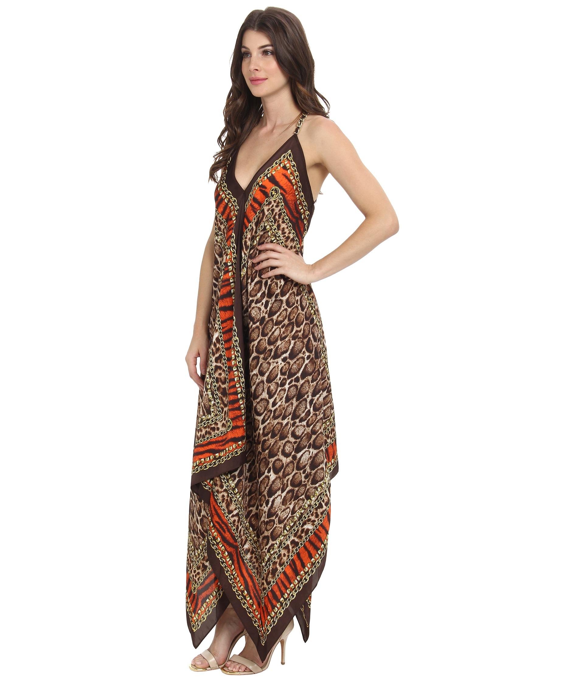 Vince scarf print maxi dress