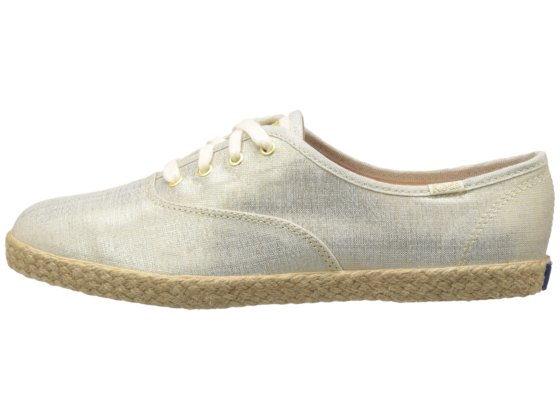 keds champion jute metallic linen