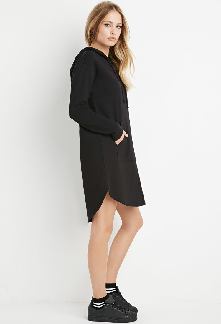 Lyst Forever 21 Contemporary Drawstring Hooded Dress In