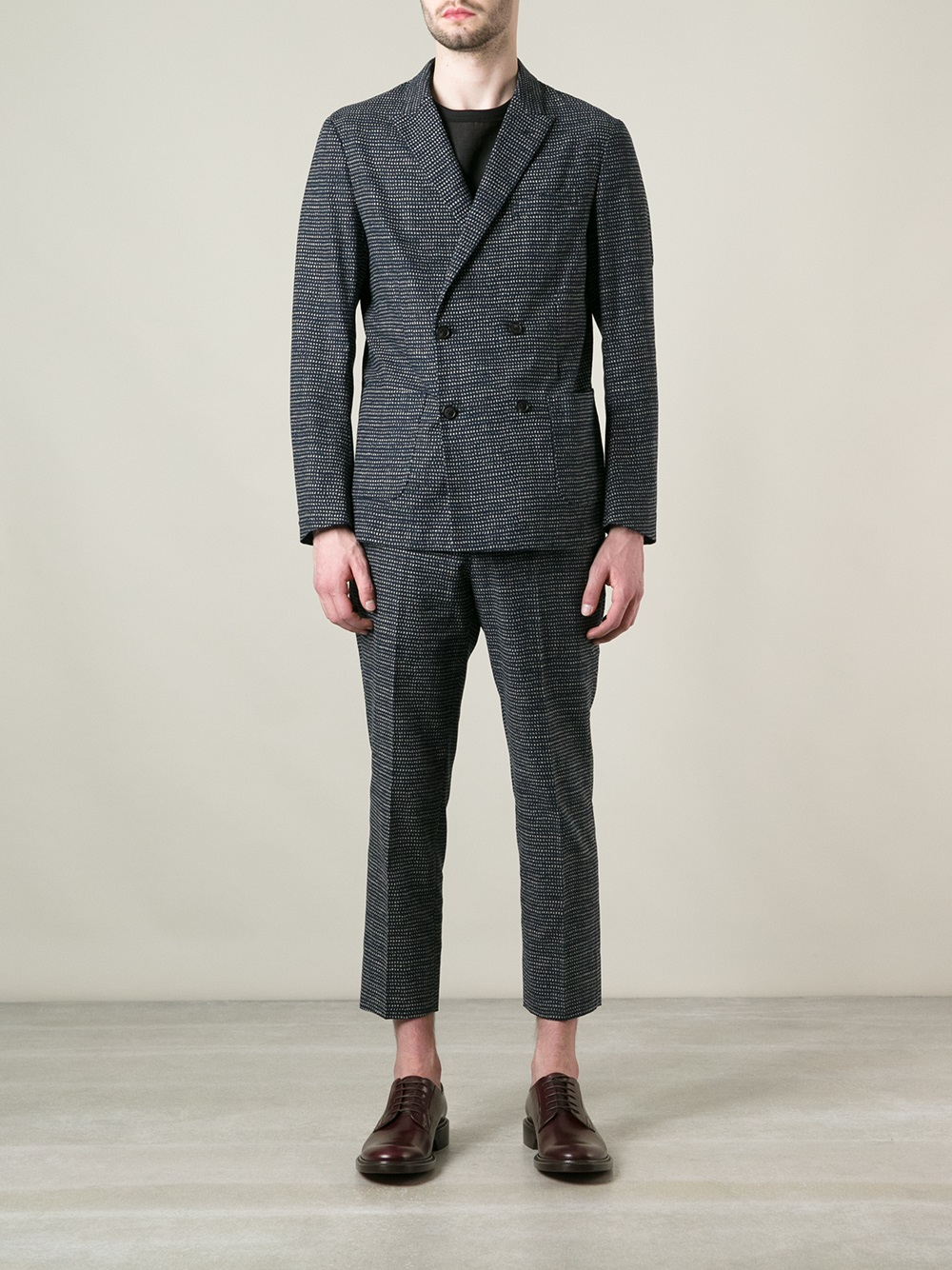 Casely-Hayford Double Breasted Version Jacket in Blue for Men