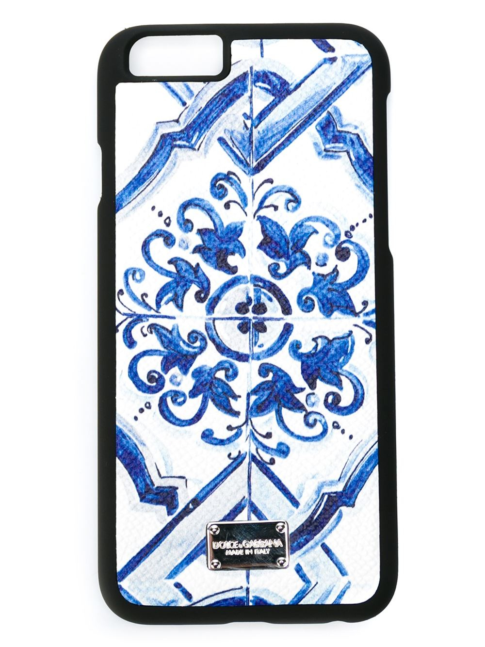 separation shoes 95117 86a30 Dolce & Gabbana Blue 'Majolica' Print Iphone 6 Case