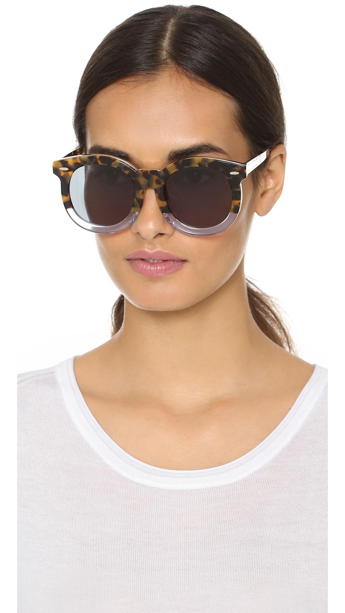 e5b08caaccb7 Lyst - Karen Walker Special Fit Super Duper Thistle Sunglasses in Brown