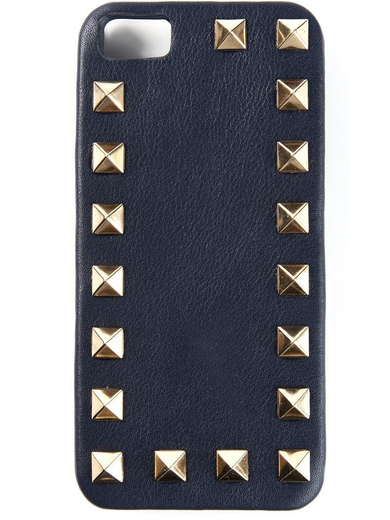 the latest a47b7 1a154 Valentino Blue 'rockstud' Iphone Case