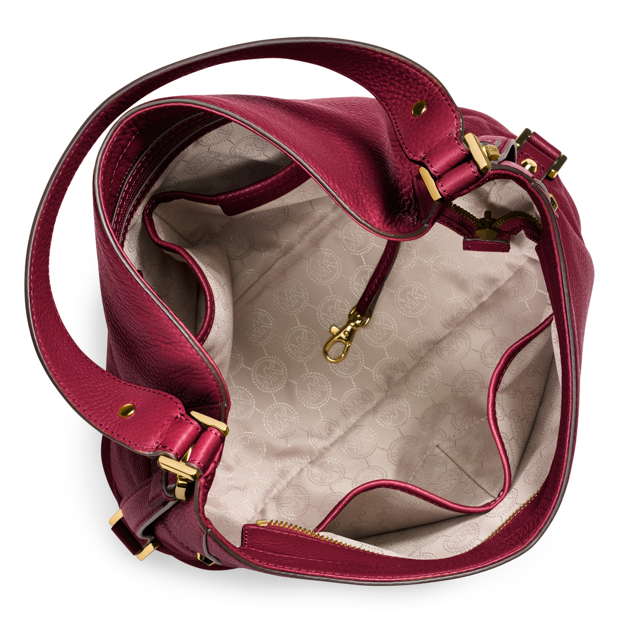 444899e94a ... 50% off michael michael kors bedford belted large leather shoulder bag  in 98257 4939d