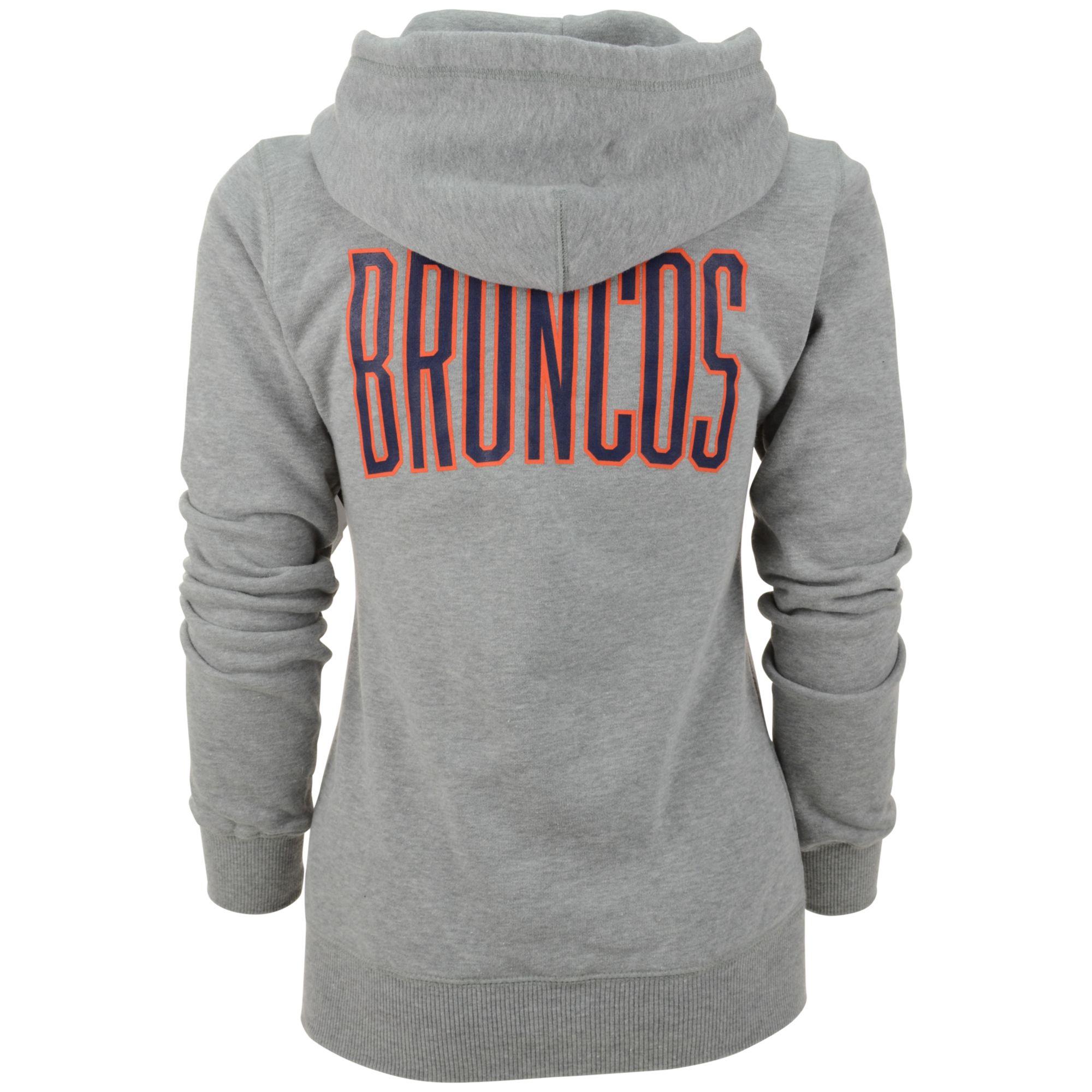 bdd281ad1d53 Lyst - Nike Women S Denver Broncos Full-Zip Hoodie in Gray