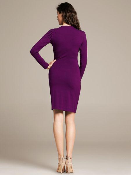 Banana Republic Faux Wrap Dress In Purple Purple Gem Lyst