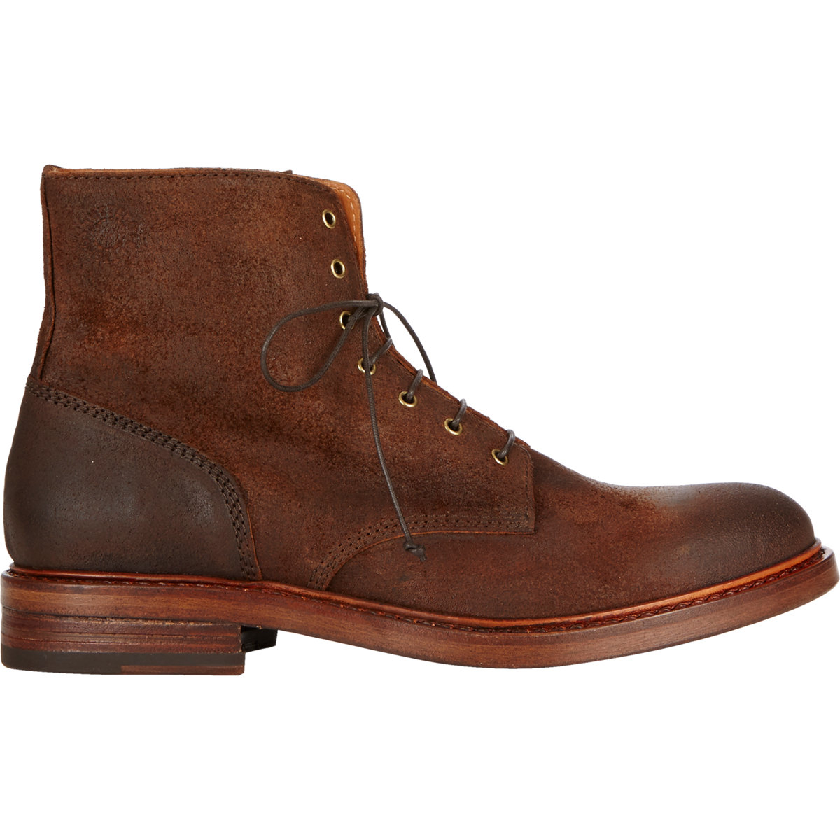 buttero suede lace up boots in brown for lyst