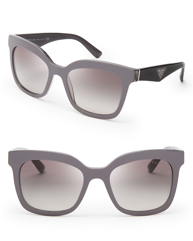5708e1dfa4a Lyst - Prada Heritage Square Sunglasses in Gray