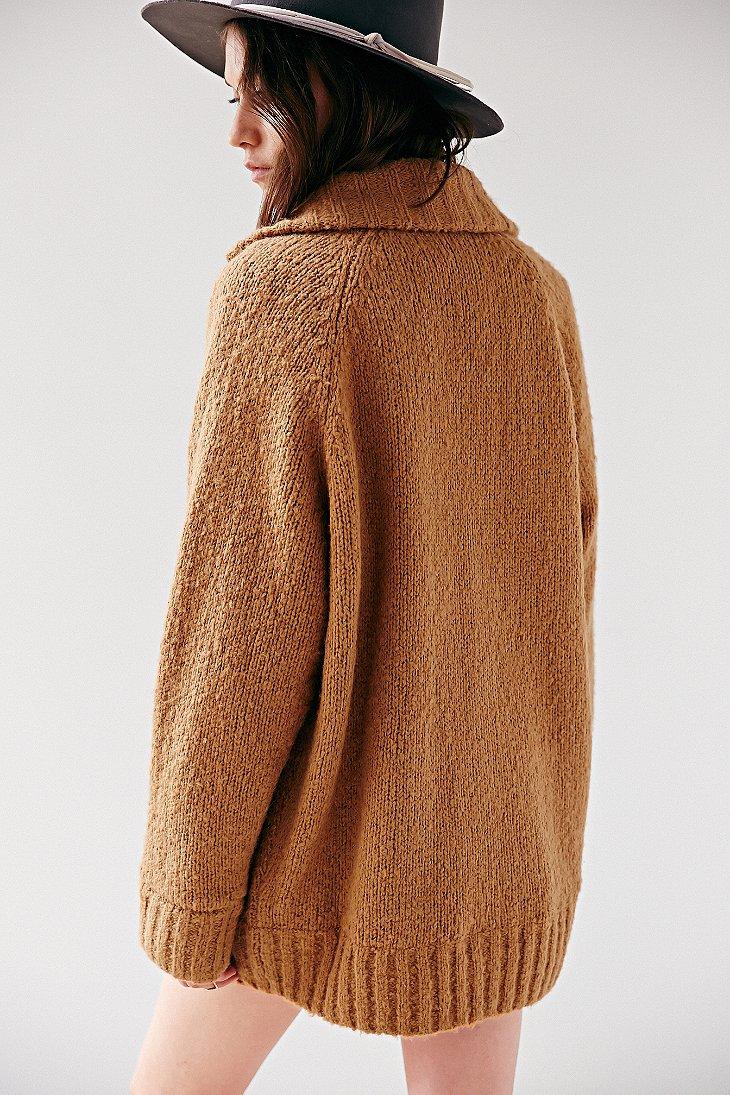 Bdg Cocoon Sweater Coat in Brown | Lyst