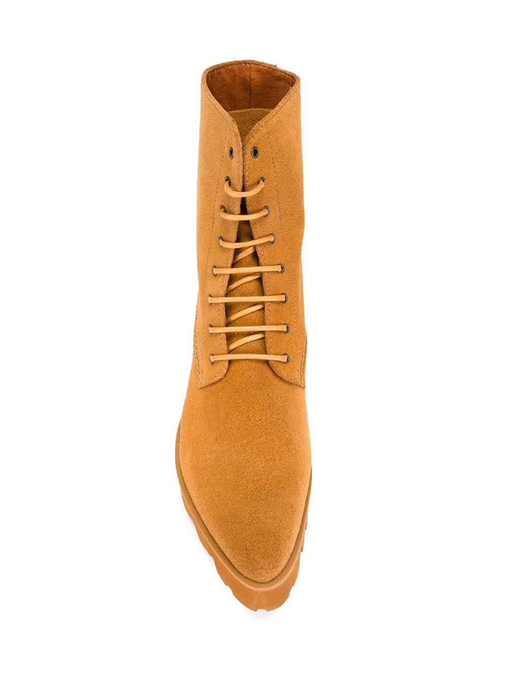 Swear Suede Lace Up Boots in Natural
