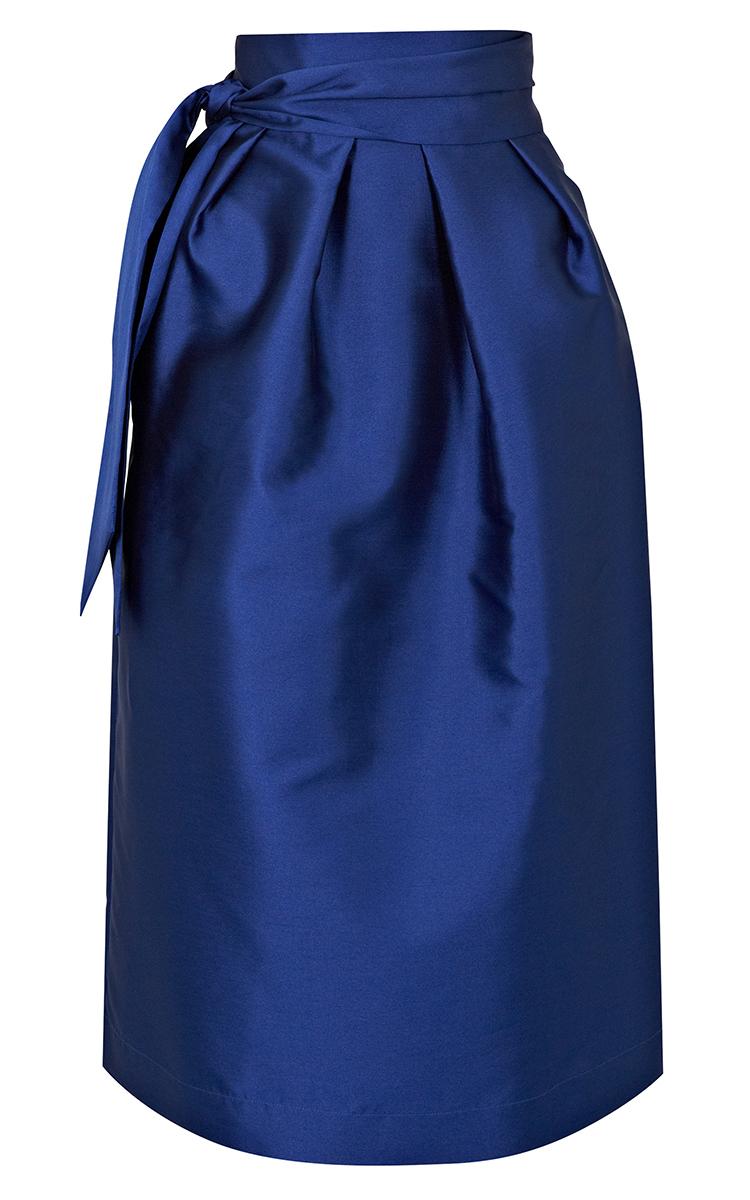 paper midi yves skirt in blue lyst