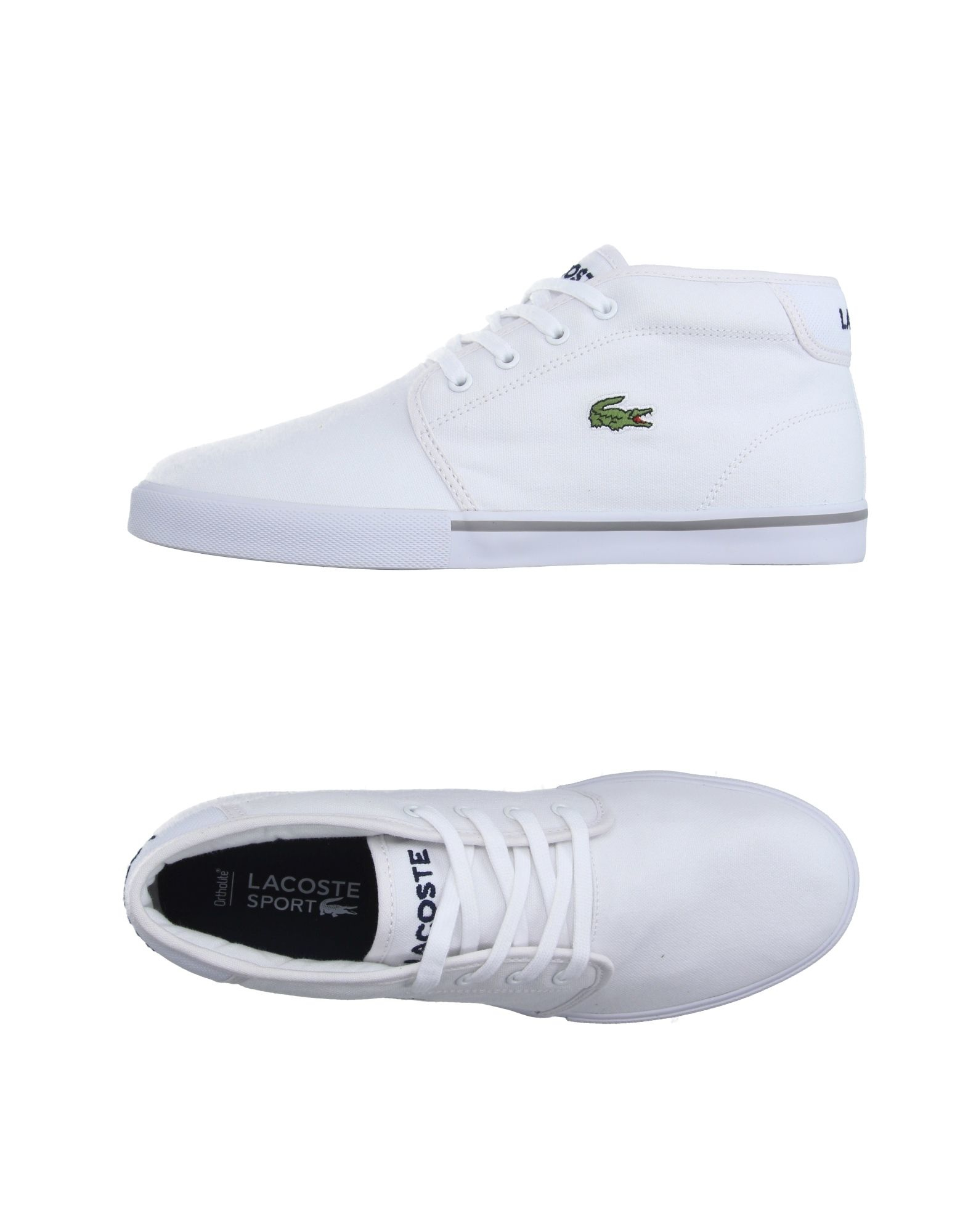 lacoste sport hightops amp trainers in white lyst