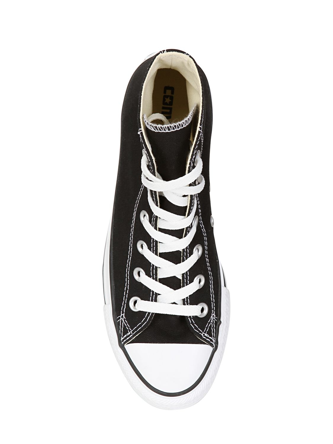 Converse 40mm All Star Hi Ox Canvas Sneakers in Black