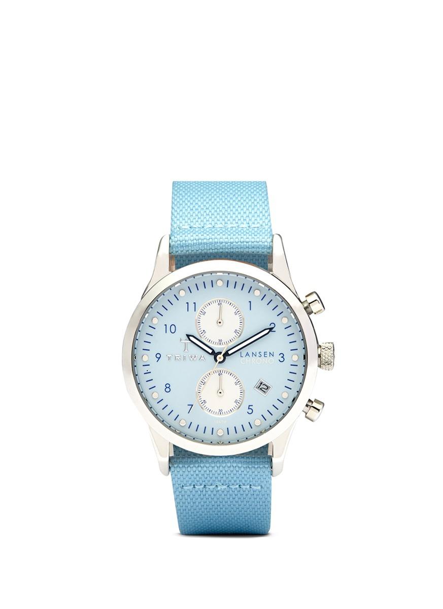 Triwa Sky Lansen Chrono Watch In Blue Lyst