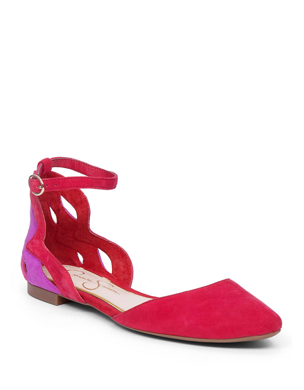 Lyst Jessica Simpson Zabala Suede Flats In Red