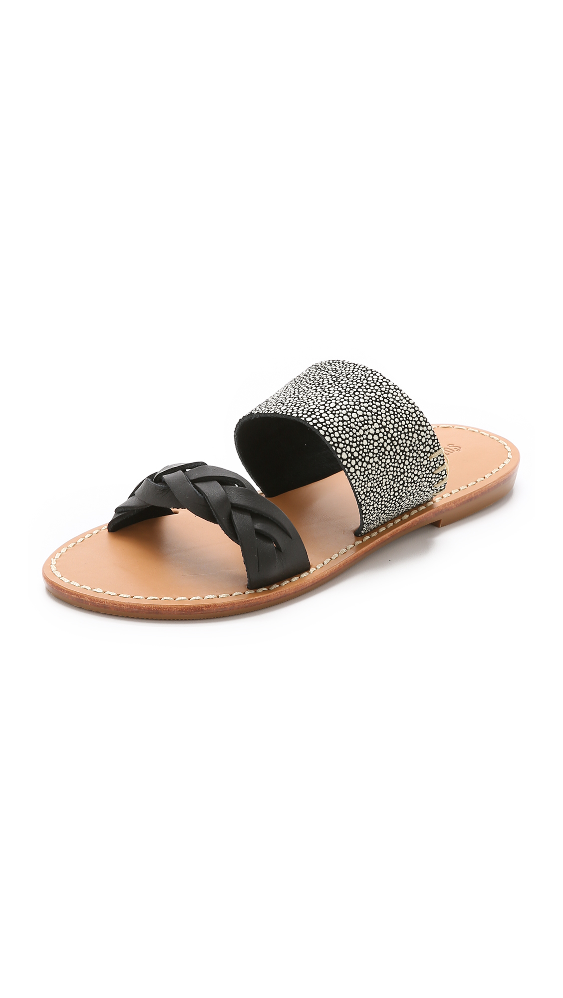 1b697f07fb31 Lyst - Soludos Braided Slide Sandals in Black