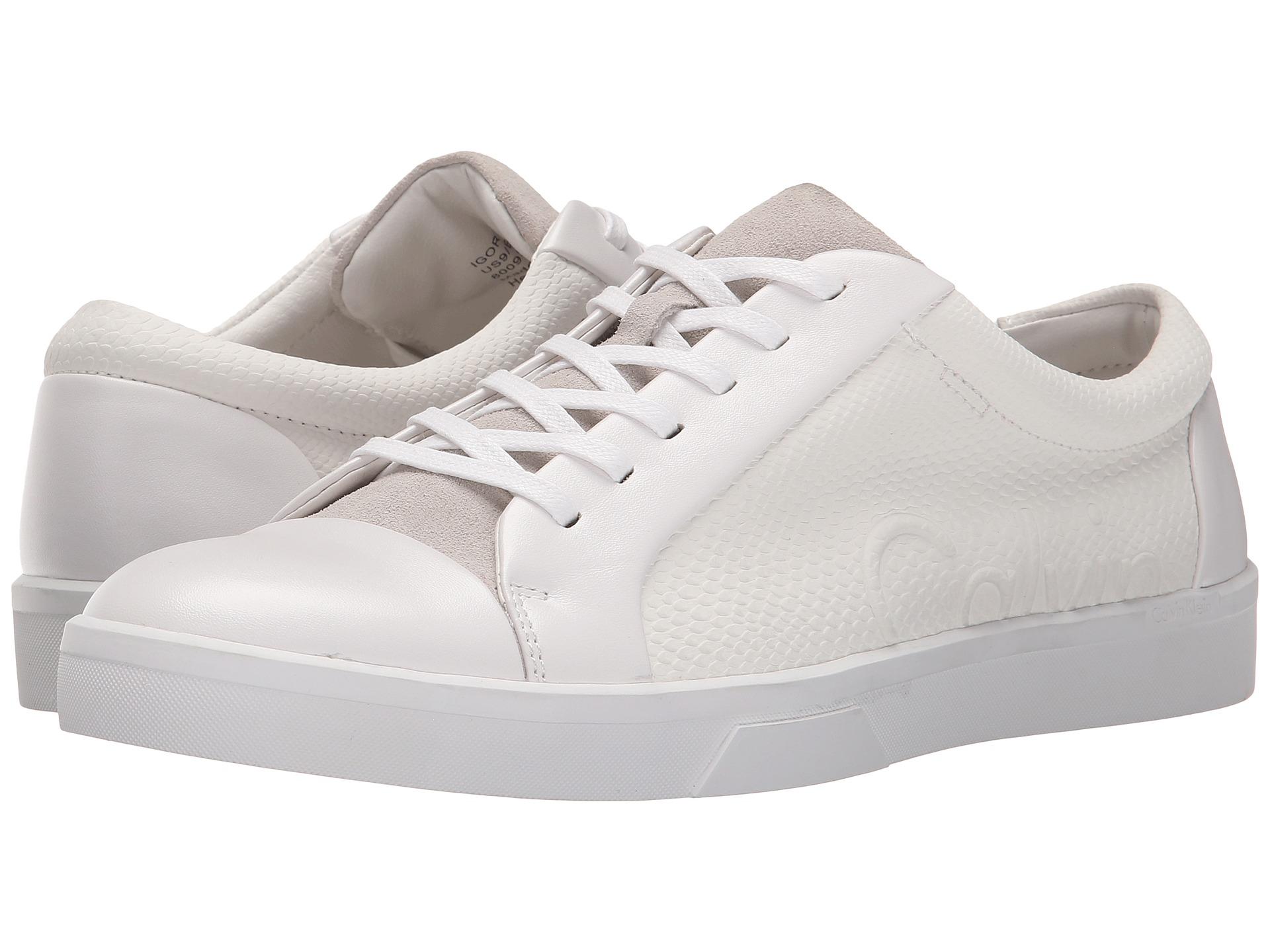 Calvin Klein IGOR  Trainers  white   zKYEhFby