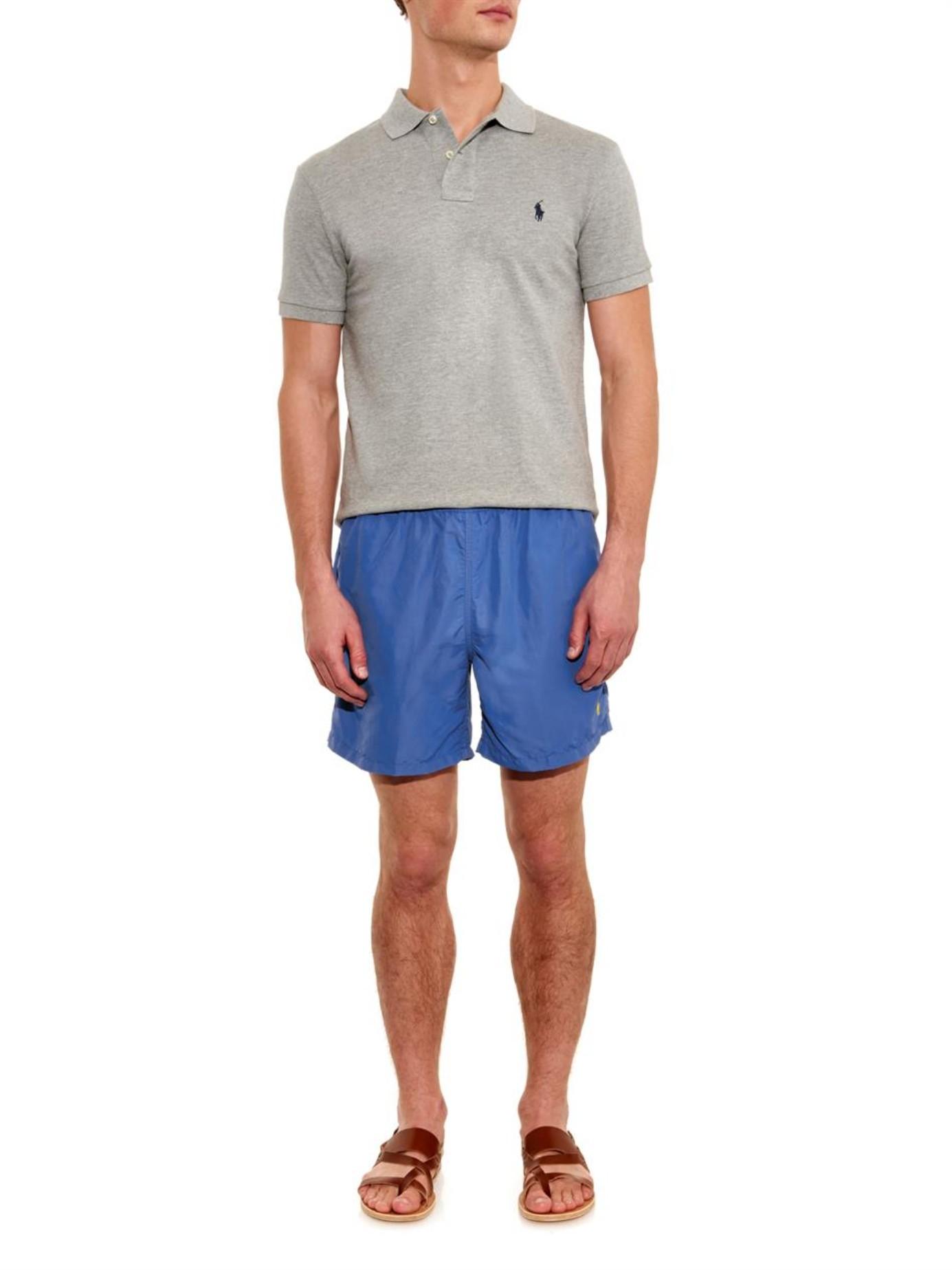 polo ralph lauren hawaiian fit 5 swim shorts in blue for men lyst. Black Bedroom Furniture Sets. Home Design Ideas