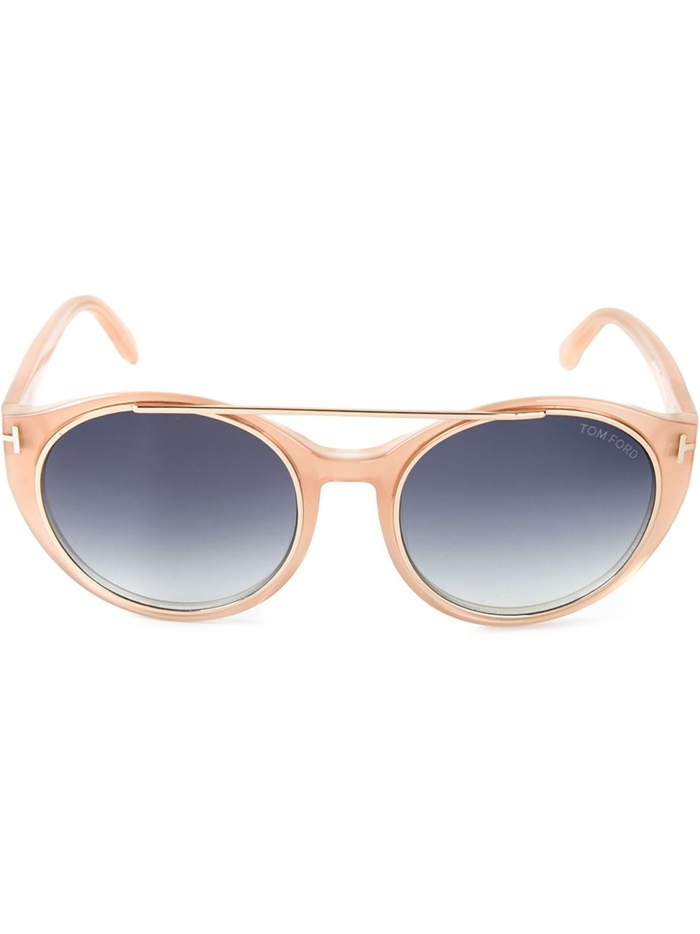 Lyst - Tom Ford Round Frame Sunglasses In Natural-8232