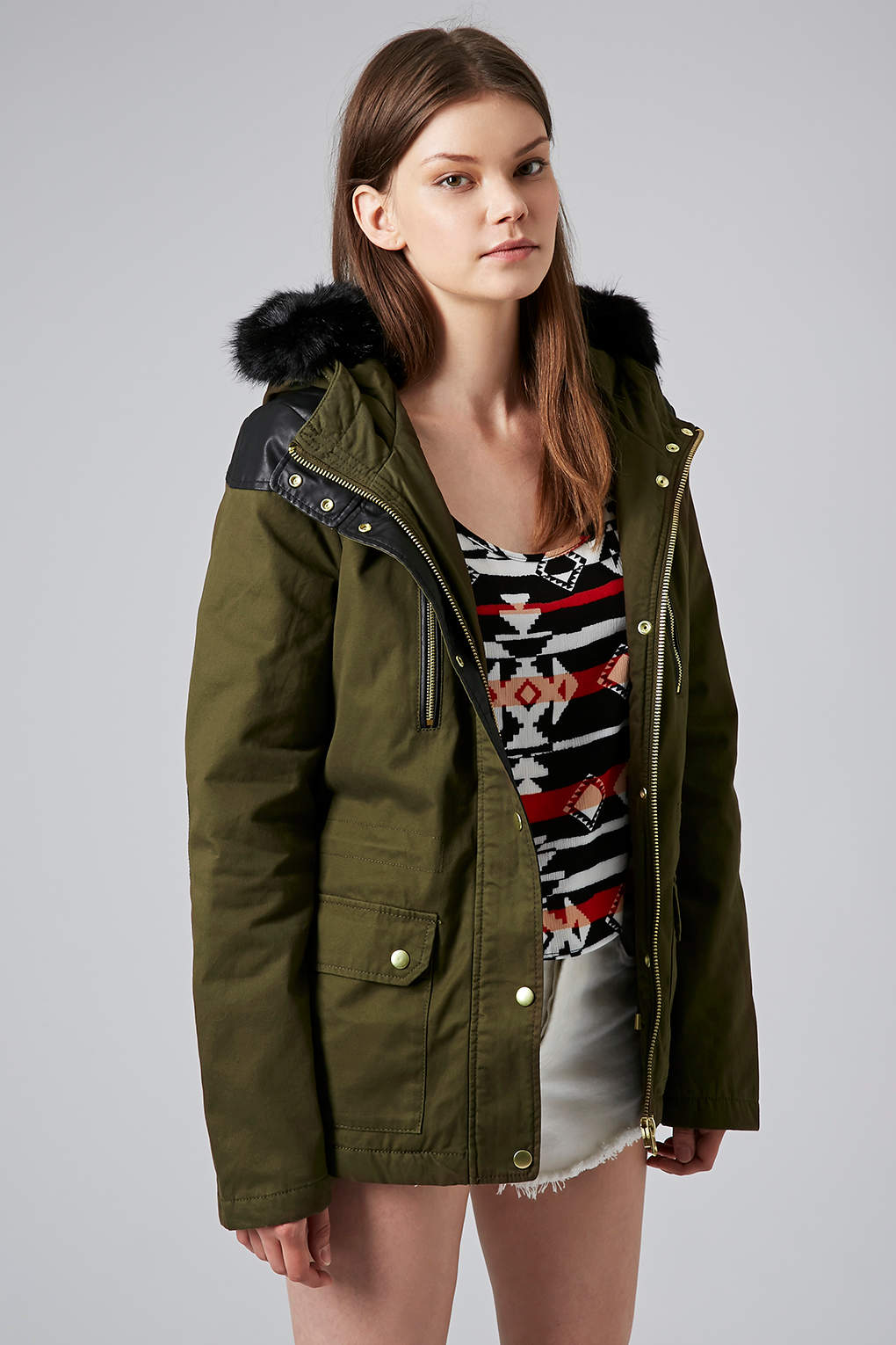 Short Parka Jacket - Coat Nj