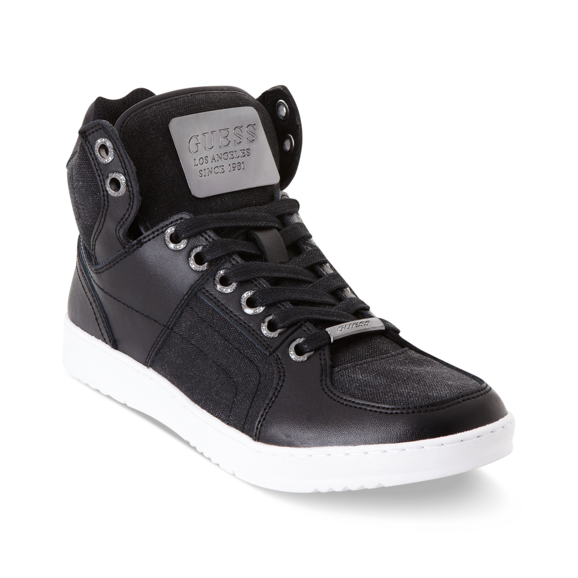 Guess Canvas Trippy High Top Sneakers