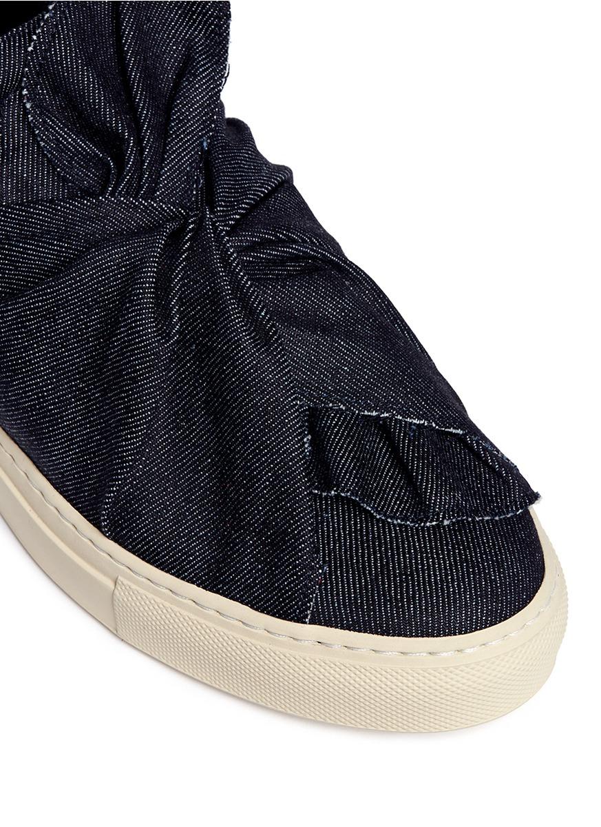 Ports 1961  Ribbon-Style Denim Sneakers in Dark Blue (Blue)