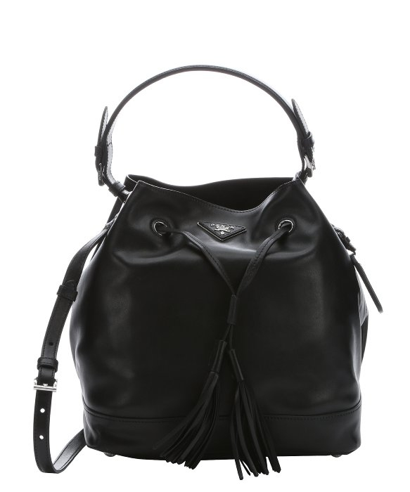 1145b4d04f91fa Prada Leather Bucket Bag Black | Stanford Center for Opportunity ...
