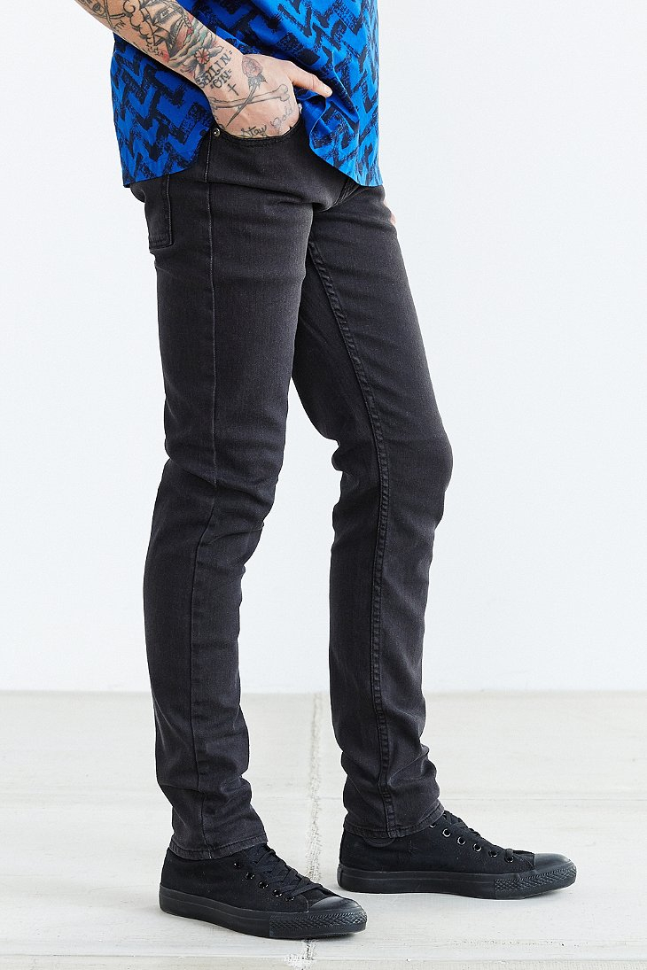 Cheap monday Tight Grey Star Skinny Jean in Black for Men | Lyst