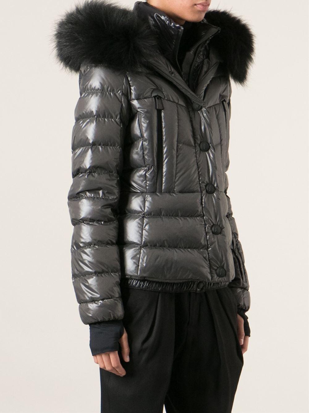 3 Moncler Grenoble Bever Detachable Racoon Fur Trim