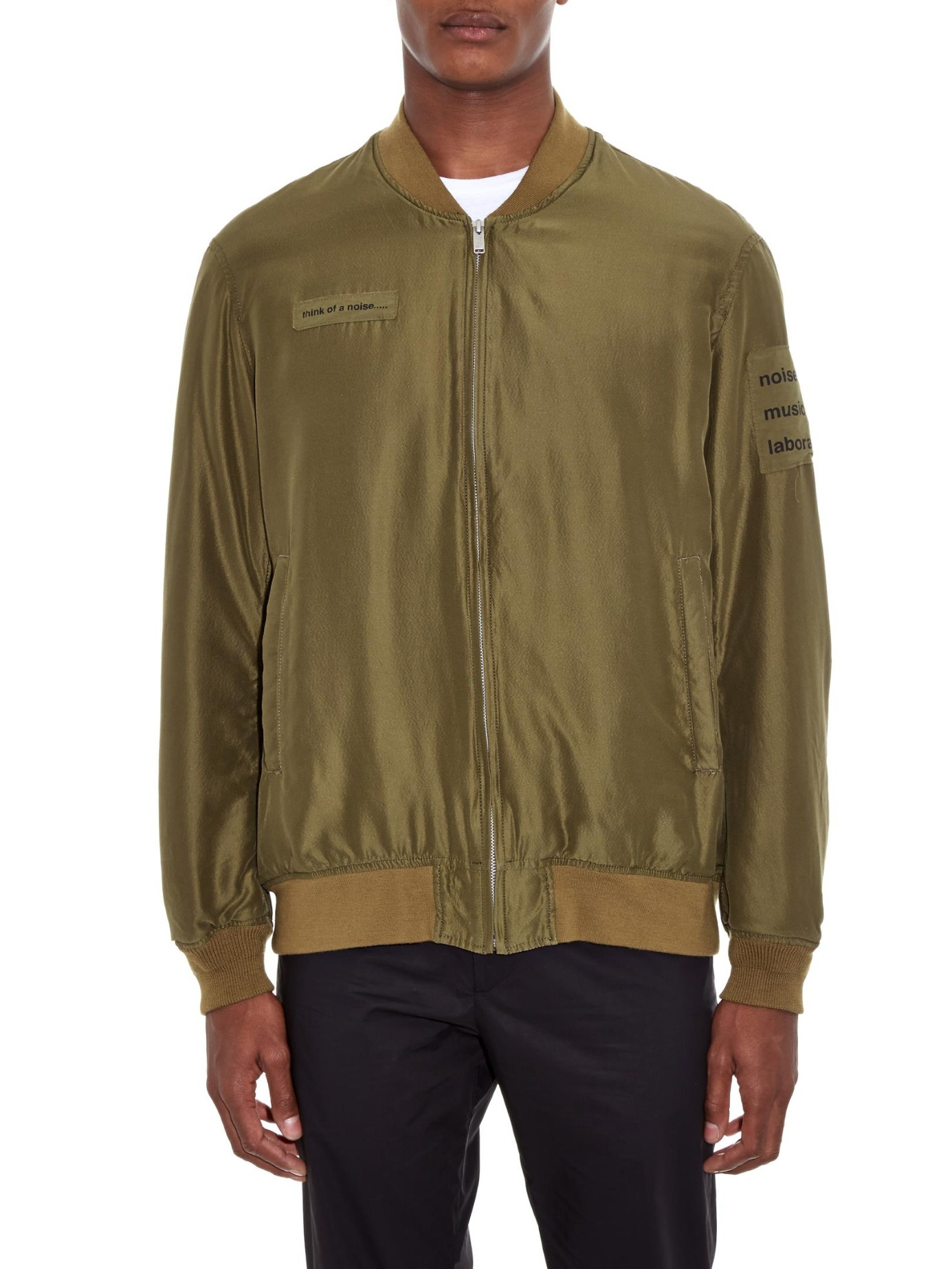 Undercover Maniac Silk Blend Bomber Jacket In Green For