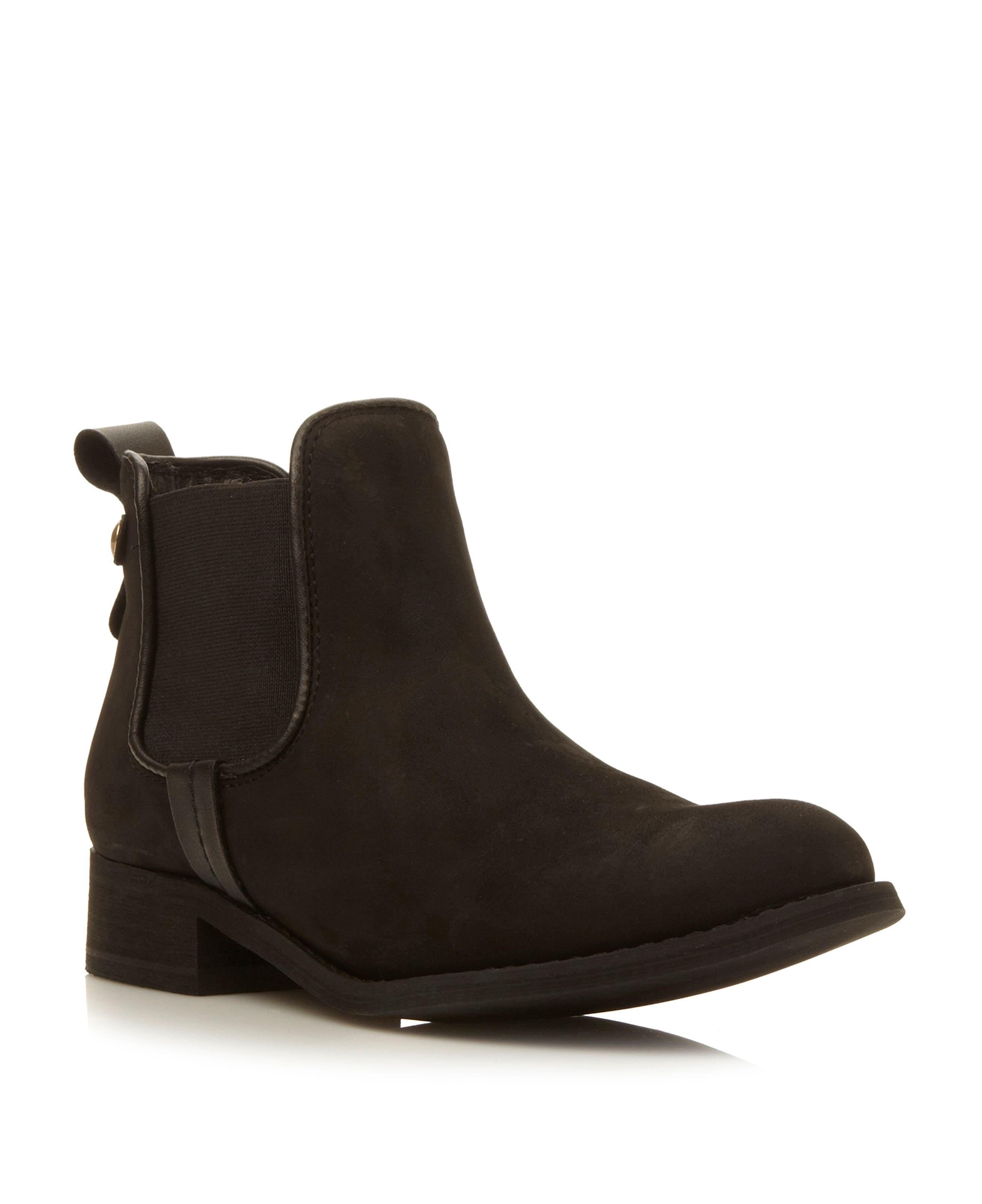 steve madden gilte chelsea ankle boots in black lyst