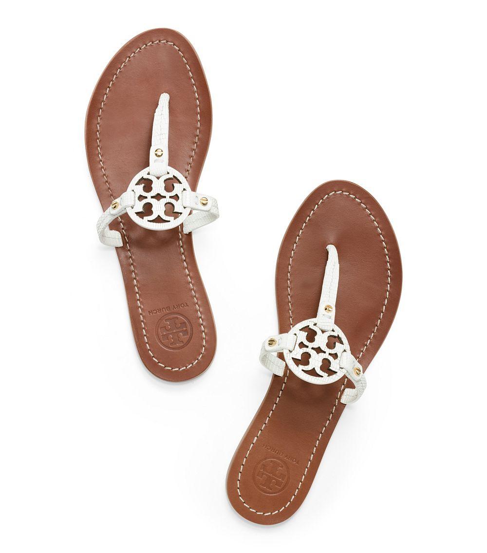 fac5018c9744 Tory Burch Mini Miller Flat Thong Sandal in White - Lyst
