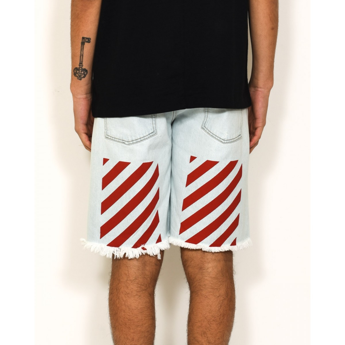 Off-white c/o virgil abloh &quoteagle&quot Short Jeans Five Pockets in