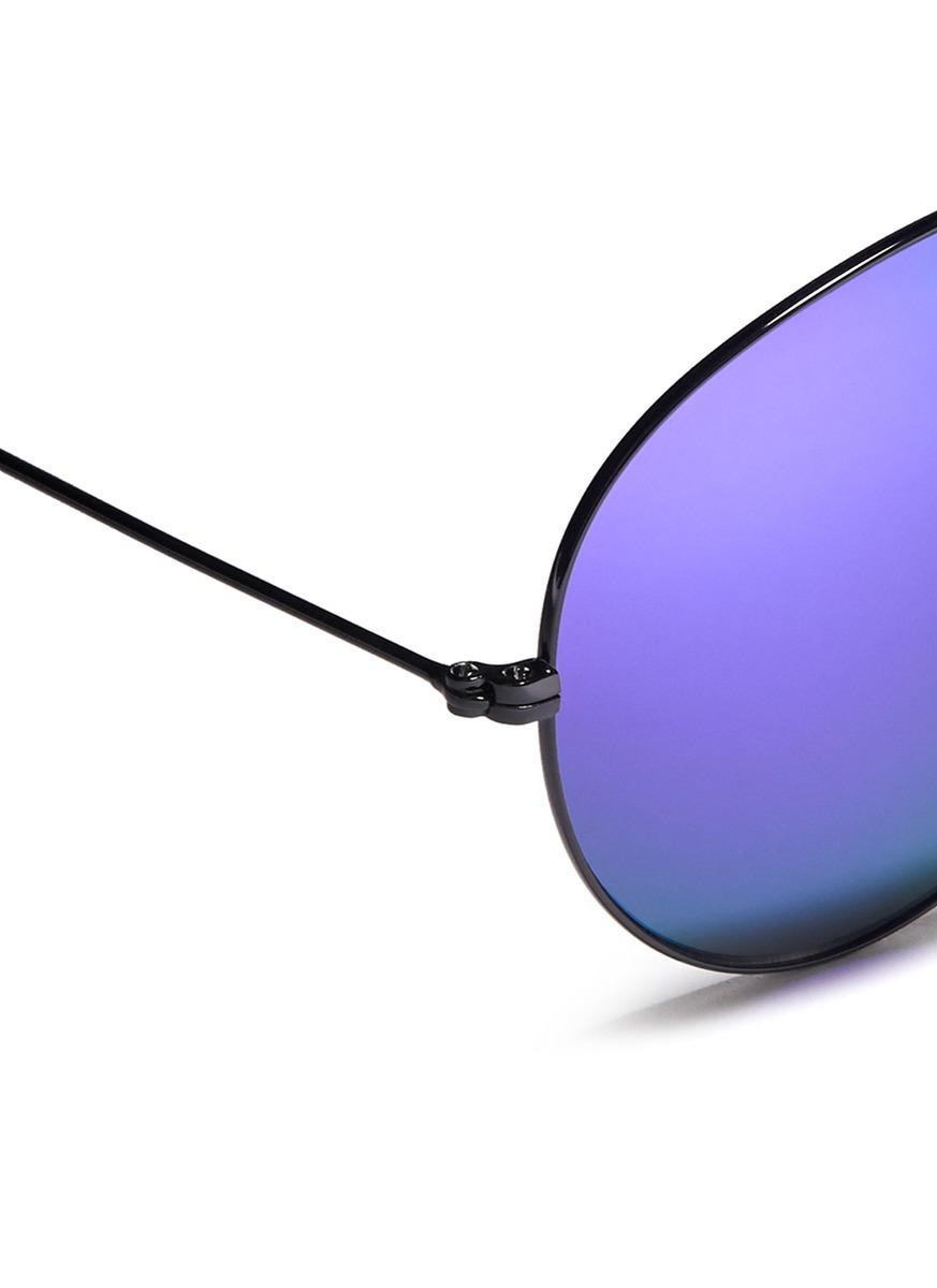 Victoria Beckham Mirror Lens Aviator Sunglasses In Black
