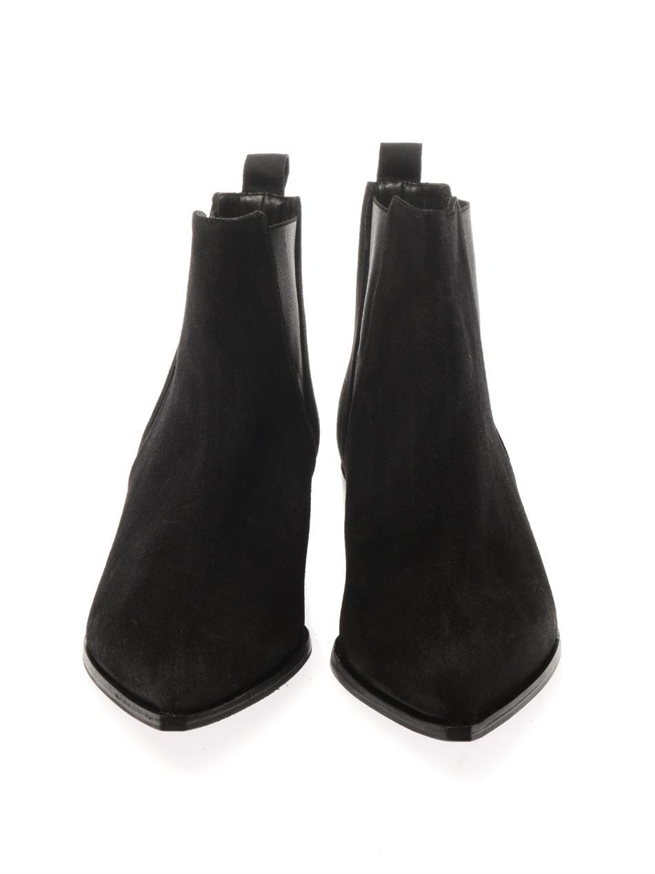 acne studios jensen suede boots in black lyst. Black Bedroom Furniture Sets. Home Design Ideas