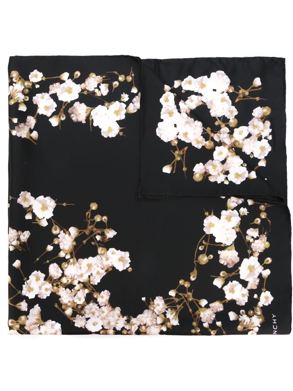 Givenchy Floral Print Scarf in Natural | Lyst