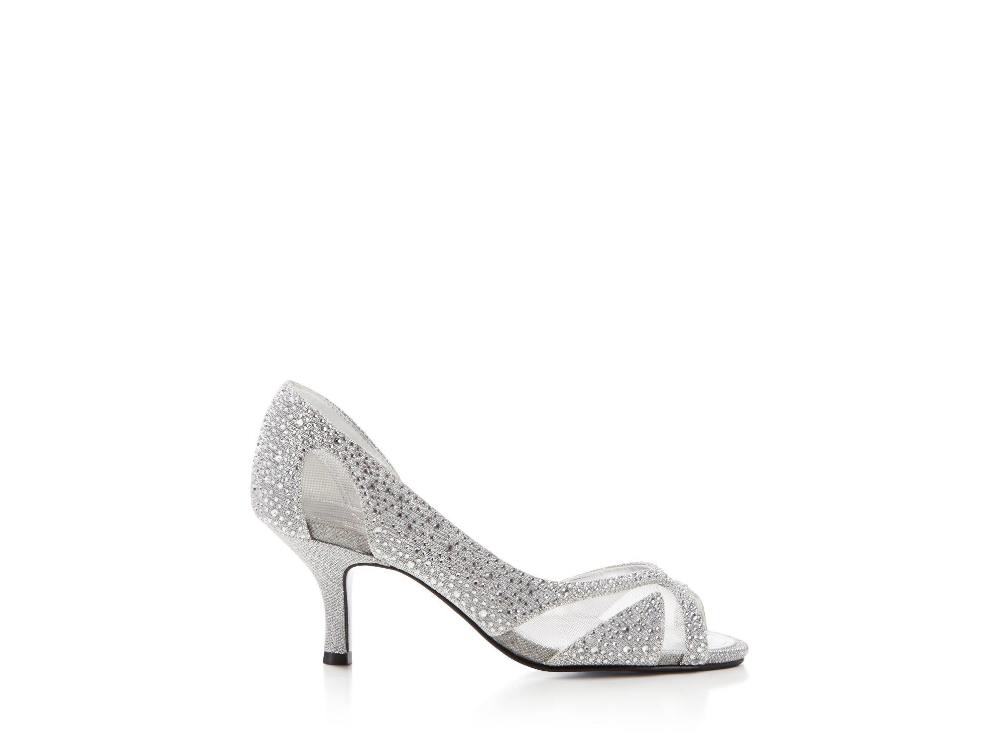 Lyst - Caparros Zofia Peep Toe Mid Heel Pumps in Metallic