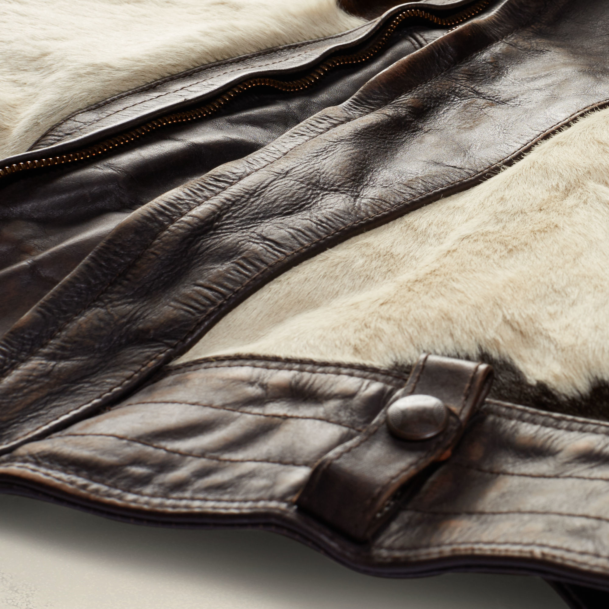 RRL Limited-edition Leather Jacket in White for Men