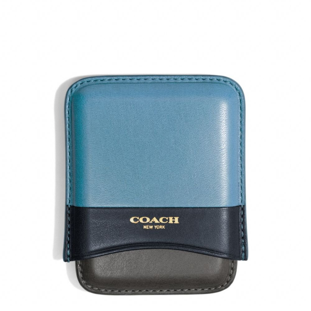 Lyst - Coach Bleecker Molded Card Case In Colorblock Leather in Blue ...