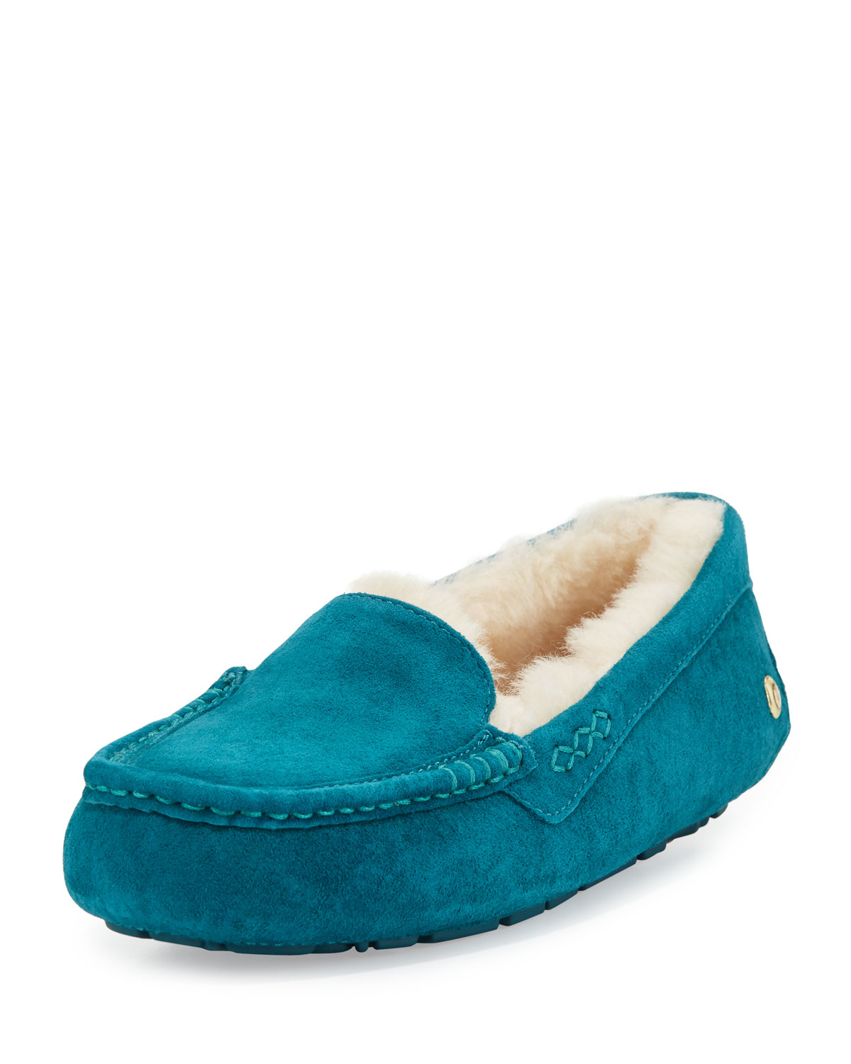 38981d00e60 UGG Ansley Suede Moccasin Slippers - Lyst