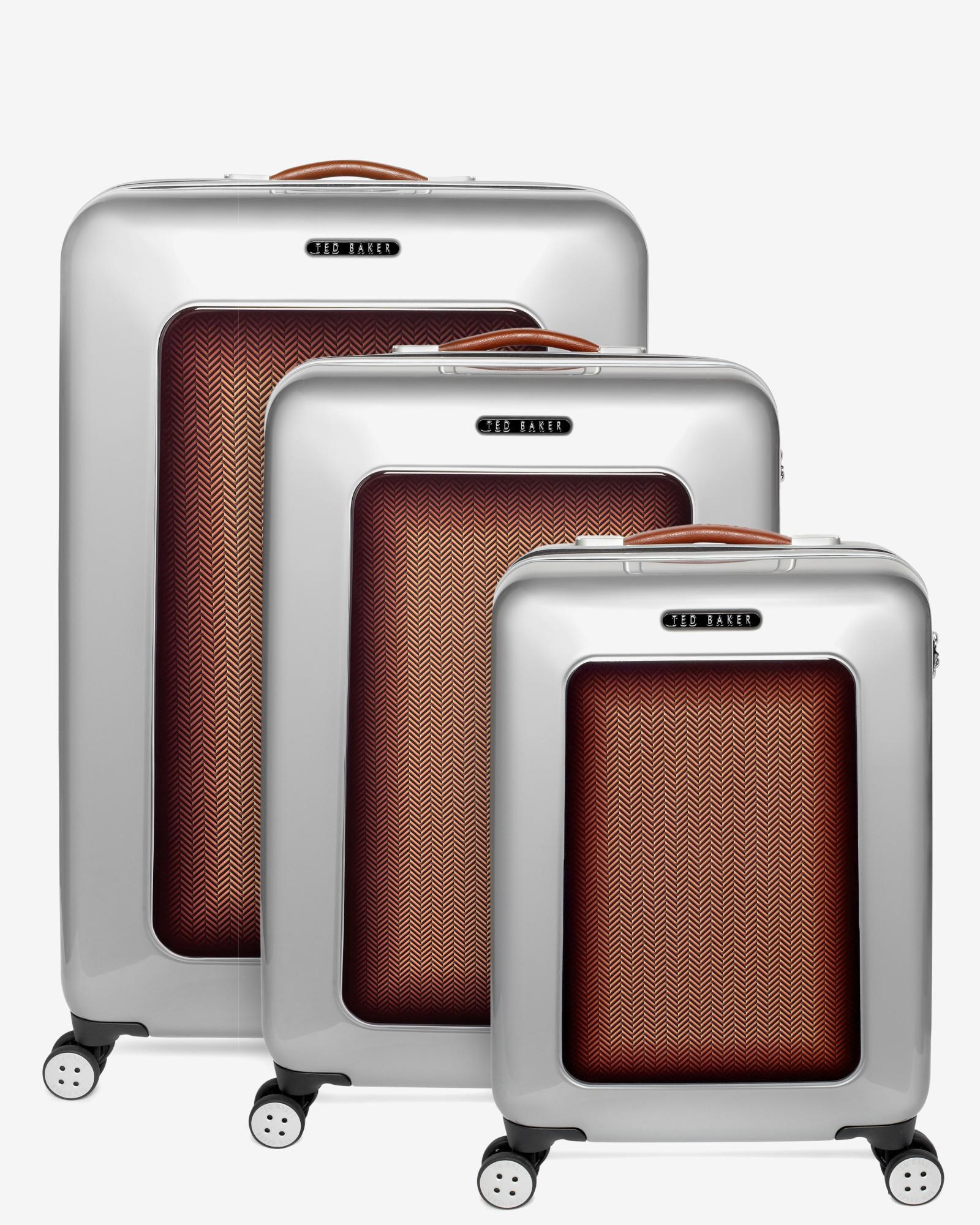 6b20d2d50894 Lyst - Ted Baker Medium Herringbone Suitcase in Metallic for Men