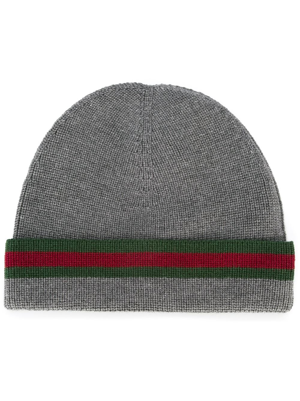 Lyst - Gucci Wool-silk Beanie Hat in Gray for Men a441bf2c758